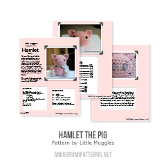 Hamlet the Pig amigurumi pattern by Little Muggles