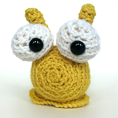 Hannah the slug amigurumi pattern by FreshStitches