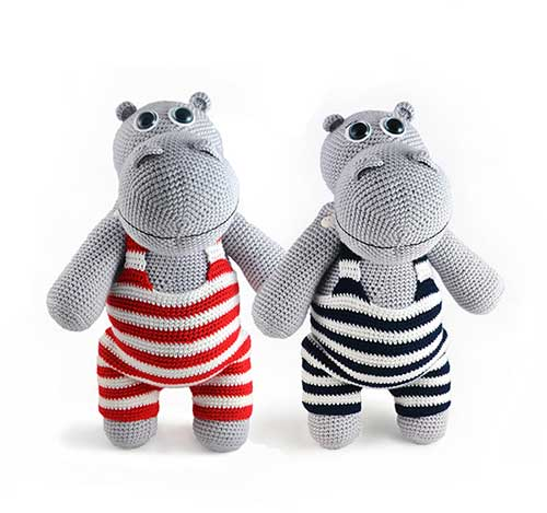 10 Cute Hippo Amigurumi Crochet Patterns Free and Paid | Crochet ... | 469x500