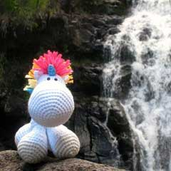Hugo the Unicorn amigurumi pattern by A Morning Cup of Jo Creations