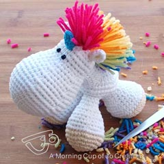 Hugo the Unicorn amigurumi by A Morning Cup of Jo Creations