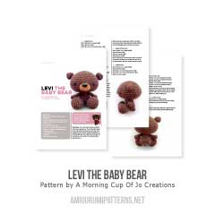 Levi the Baby Bear amigurumi pattern by A Morning Cup of Jo Creations