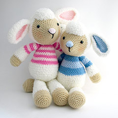 Lollo and Lulu Lamb amigurumi pattern by Janine Holmes at Moji-Moji Design