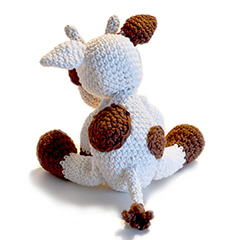 Mable the Cow amigurumi by Patchwork Moose (Kate E Hancock)