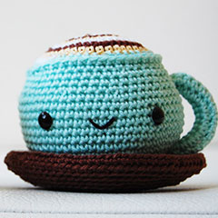 Mr. Coffee and Miss Cupcake amigurumi pattern by Pepika