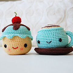Mr. Coffee and Miss Cupcake amigurumi by Pepika