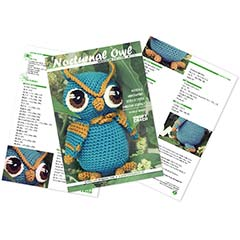 Nocturnal Owl amigurumi pattern by Kraft Croch