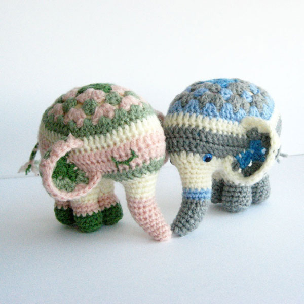 Crochet Elephant Pattern : ... .net > patterns > Irene Stranges patterns > Noodle the elep...