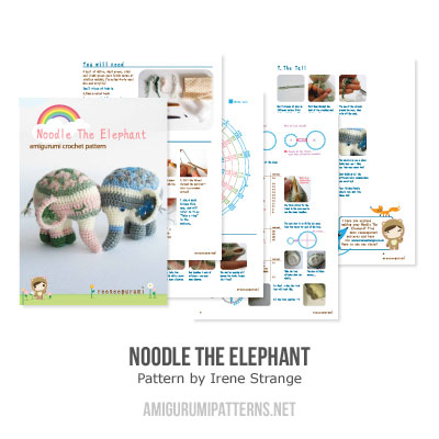 Noodle the elephant amigurumi pattern - Amigurumipatterns.net