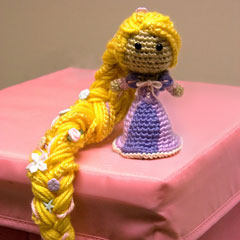Rapunzel Tangled Princess amigurumi crochet pattern by Sahrit
