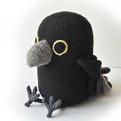 Raven amigurumi pattern by The Flying Dutchman Crochet Design