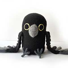 Raven amigurumi by The Flying Dutchman Crochet Design