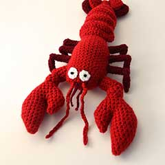 Red and Blue Lobster amigurumi pattern by The Flying Dutchman Crochet Design