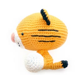 Roary the Tiger amigurumi pattern by A Morning Cup of Jo Creations