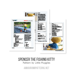 Spencer the fishing kitty amigurumi pattern by Little Muggles