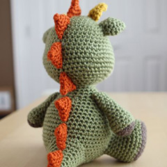 Spike the Dragon amigurumi by Little Muggles