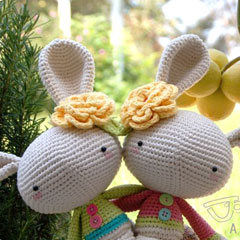 Spring Bunny amigurumi by A Morning Cup of Jo Creations