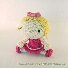 Sweet and Lovely Doll amigurumi crochet pattern by One and Two Company
