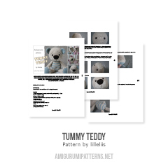 Tummy Teddy amigurumi pattern by lilleliis