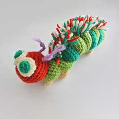 Very Hungry Caterpillar amigurumi crochet pattern