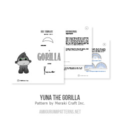 Yuna the Gorilla amigurumi pattern by Meraki Craft Inc.