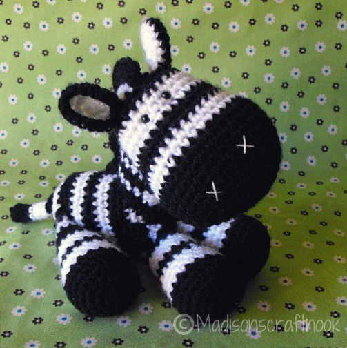 Crochet Patterns Zebra : ... patterns > Janice Cyr / madisonscraftnooks patterns > Zeb the ...