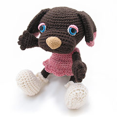 Zoomigurumi 2 Brownie the dog crochet pattern