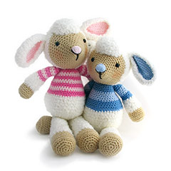 Zoomigurumi 2 Lulu and Lollo lamb crochet pattern