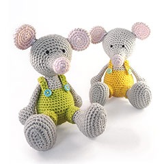 Zoomigurumi 2 Manfred the mouse crochet pattern