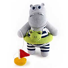 Zoomigurumi 3 - Henry the hippo crochet pattern