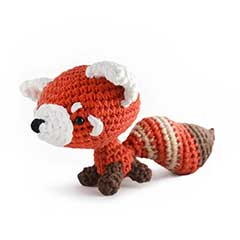 Zoomigurumi Rusty the red panda crochet pattern