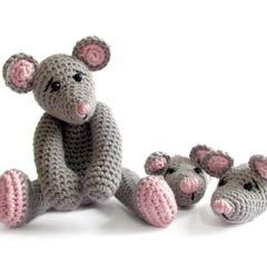 Zoomigurumi Naughty mice crochet pattern