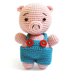 Zoomigurumi Reco the pig crochet pattern
