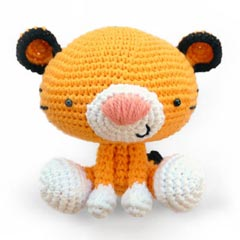 Roary the Tiger amigurumi crochet pattern by A Morning Cup of Jo Creations