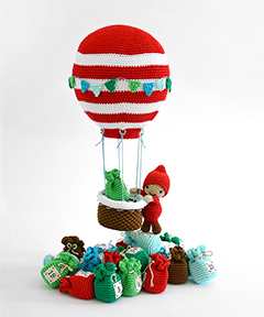 Amigurumi Winter Wonderland - hot air balloon crochet pattern