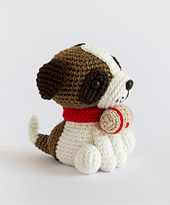 Amigurumi Winter Wonderland - Saint Bernard Dog crochet pattern