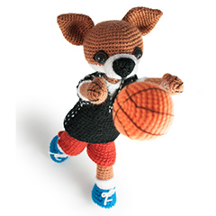 Amigurumi Animals at Work - Foxy the basketball player