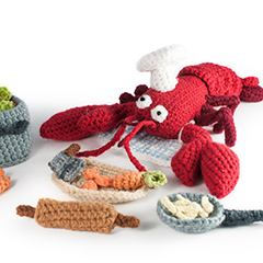 Amigurumi Animals at Work - Monsieur the lobster chef
