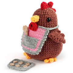 Amigurumi Animals at Work - Mama hen the baker