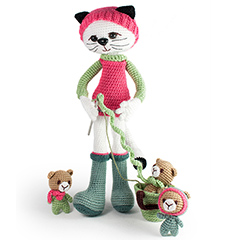 Amigurumi Animals at Work - Miss Kitty Catty